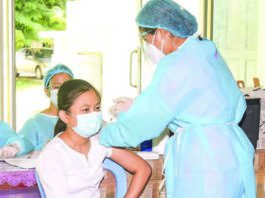 미얀마 학생 대상 코로나19 예방접종
